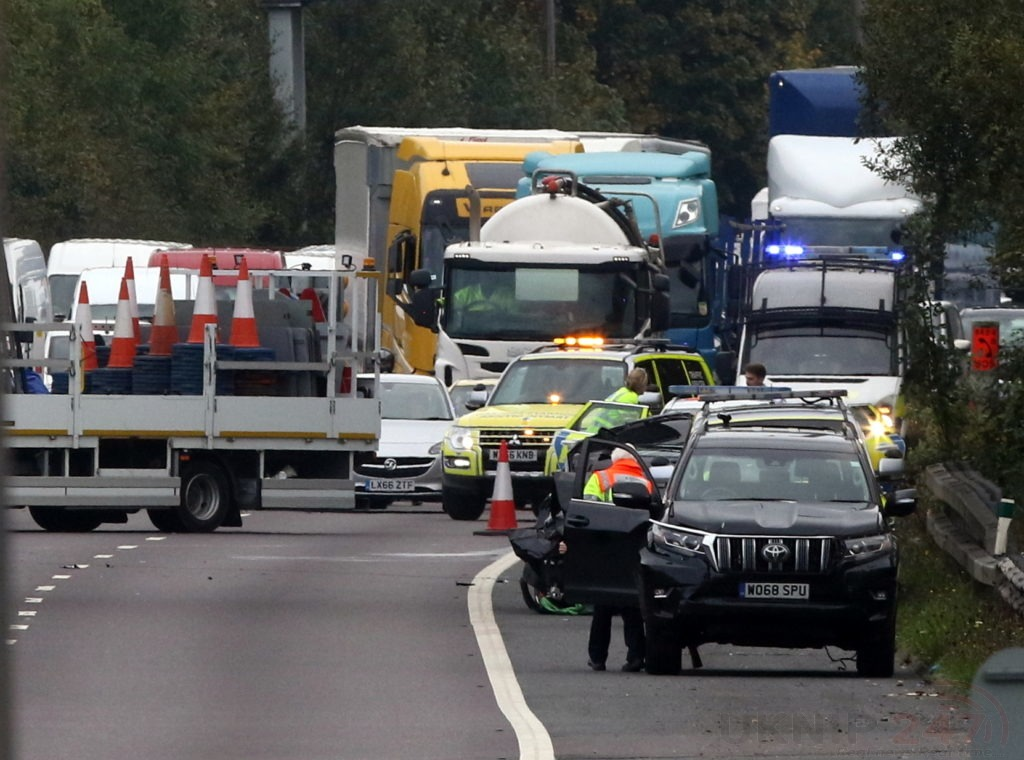 A2 London Bound Closed Following Multi Vehicle Collision