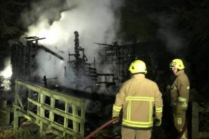 arson probe launched after outbuilding at east kent railway is torched