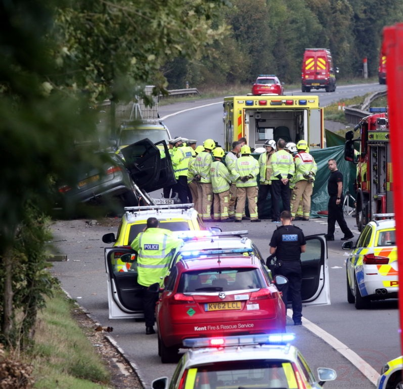 driver makes off from fatal m2 collision near medway services