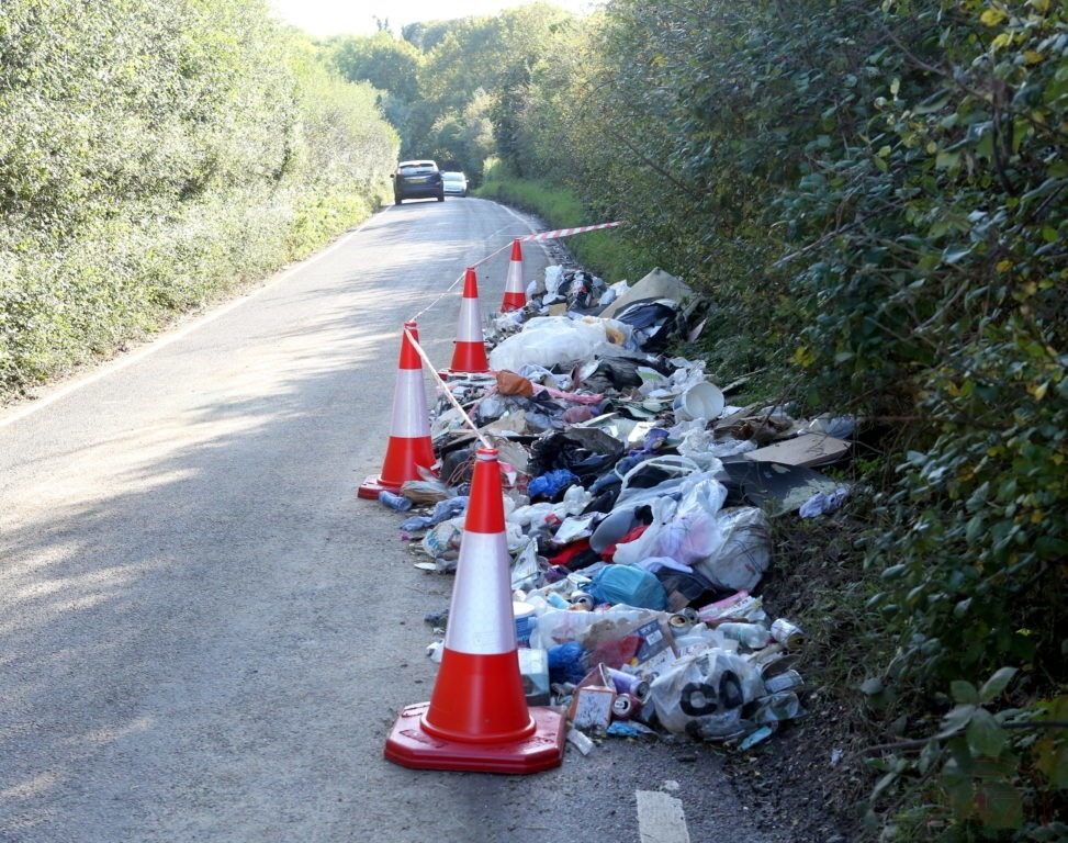 fly tippers target pre domesday village with ton of fly tipped waste