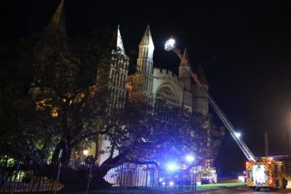 kent firefighters learn how to tackled potentially devastating fire at rochester cathedral 14
