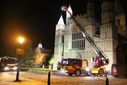 kent firefighters learn how to tackled potentially devastating fire at rochester cathedral 15