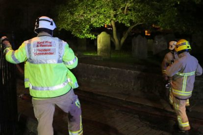 kent firefighters learn how to tackled potentially devastating fire at rochester cathedral 19