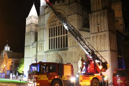 kent firefighters learn how to tackled potentially devastating fire at rochester cathedral 21