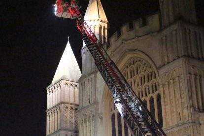 kent firefighters learn how to tackled potentially devastating fire at rochester cathedral 22