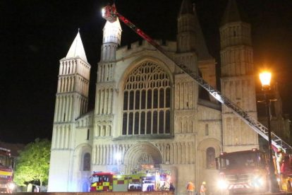 kent firefighters learn how to tackled potentially devastating fire at rochester cathedral 23