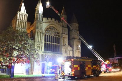 kent firefighters learn how to tackled potentially devastating fire at rochester cathedral 24