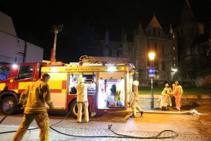 kent firefighters learn how to tackled potentially devastating fire at rochester cathedral 29