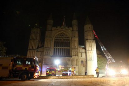 kent firefighters learn how to tackled potentially devastating fire at rochester cathedral 3