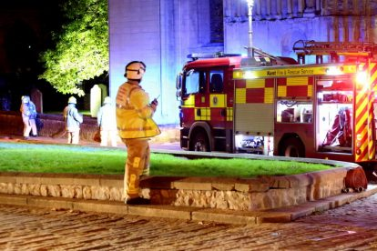 kent firefighters learn how to tackled potentially devastating fire at rochester cathedral 34
