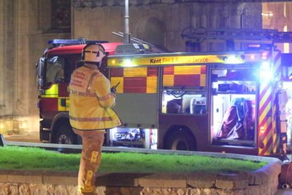 kent firefighters learn how to tackled potentially devastating fire at rochester cathedral 35