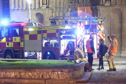 kent firefighters learn how to tackled potentially devastating fire at rochester cathedral 45