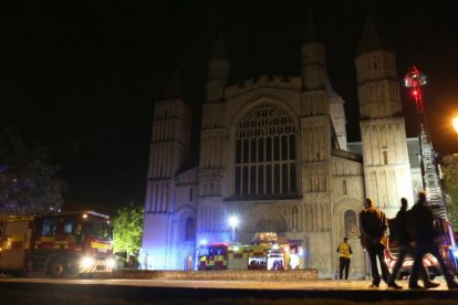 kent firefighters learn how to tackled potentially devastating fire at rochester cathedral 46