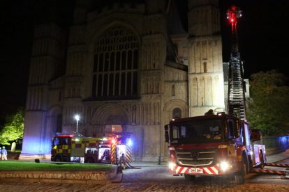 kent firefighters learn how to tackled potentially devastating fire at rochester cathedral 49