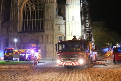 kent firefighters learn how to tackled potentially devastating fire at rochester cathedral 50