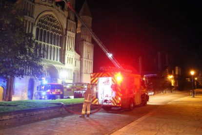 kent firefighters learn how to tackled potentially devastating fire at rochester cathedral 53