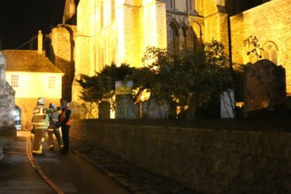 kent firefighters learn how to tackled potentially devastating fire at rochester cathedral 54
