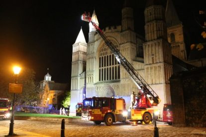 kent firefighters learn how to tackled potentially devastating fire at rochester cathedral 60