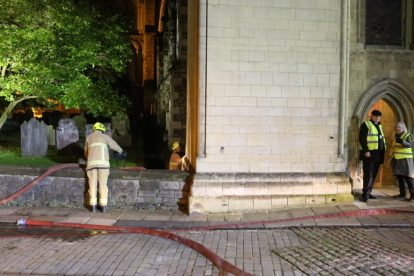 kent firefighters learn how to tackled potentially devastating fire at rochester cathedral 62
