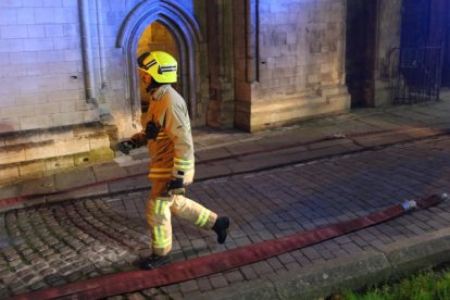 kent firefighters learn how to tackled potentially devastating fire at rochester cathedral 64