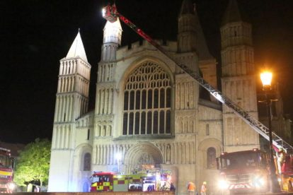 kent firefighters learn how to tackled potentially devastating fire at rochester cathedral 67
