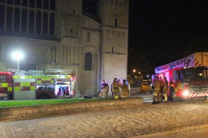 kent firefighters learn how to tackled potentially devastating fire at rochester cathedral 75
