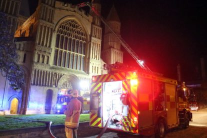 kent firefighters learn how to tackled potentially devastating fire at rochester cathedral 8
