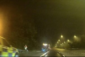 m2 in kent closed after vehicle roll over
