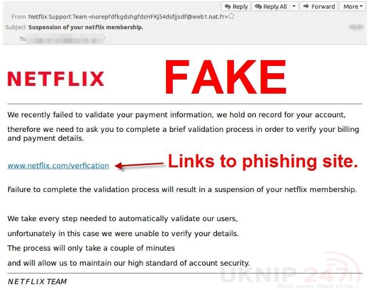 fake netflix payment requests being sent by scammers 1