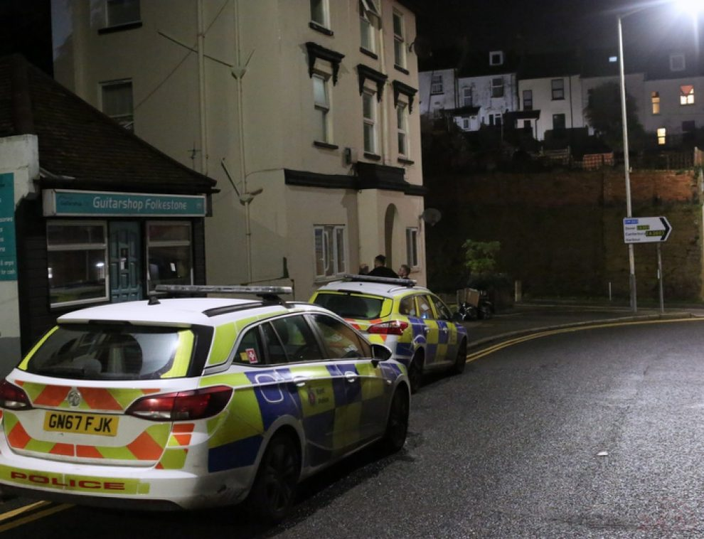 folkestone town looked like a scene from world war three following police incident