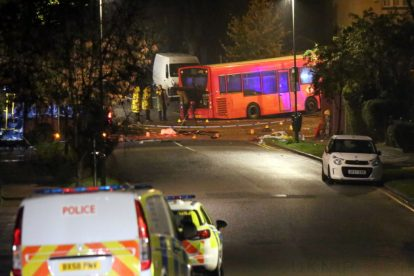 one dead after three vehicles horror collision involving two buses in orpington 15