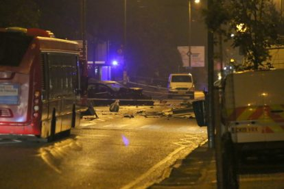 one dead after three vehicles horror collision involving two buses in orpington 9
