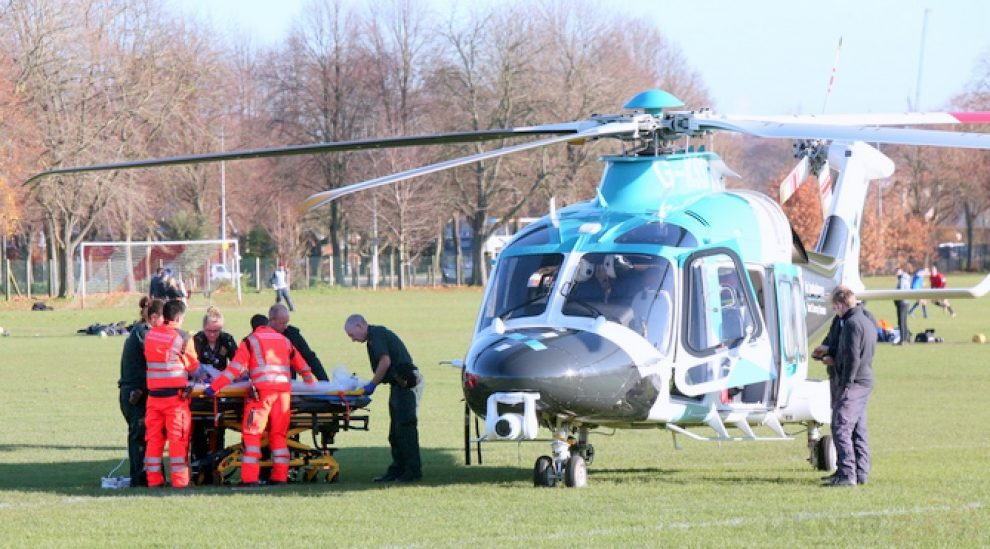 seriously ill canterbury footballer airlifted to london hospital