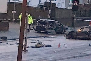 a serious crash involving two cars happened on the a228 main road at chattenden