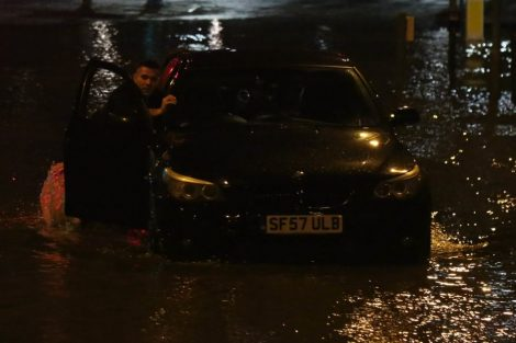 brave or foolish as driver play roulette with flooding in tunbridge 16