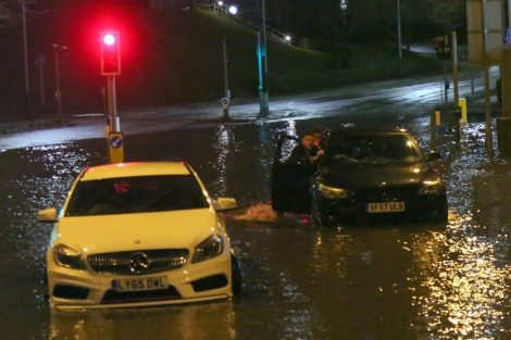 brave or foolish as driver play roulette with flooding in tunbridge 17