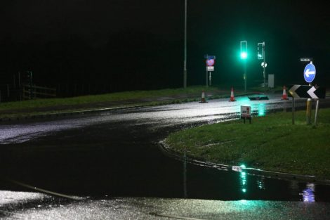brave or foolish as driver play roulette with flooding in tunbridge 22