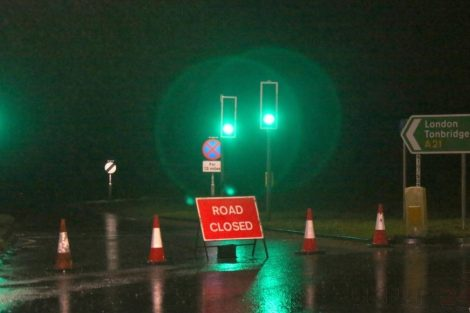 brave or foolish as driver play roulette with flooding in tunbridge 25