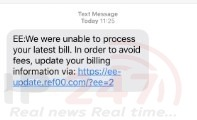 customers of mobile network ee are warning others that there is a scam targeting them