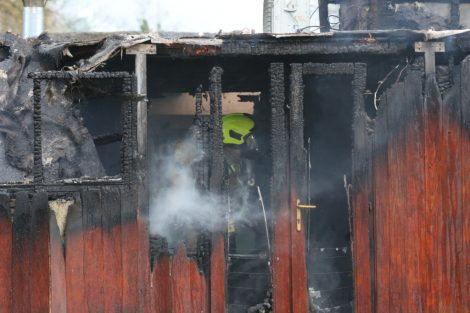 fire crew tackle boat ablaze on the river medway in kent 16