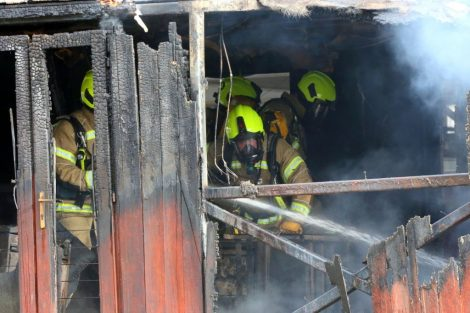 fire crew tackle boat ablaze on the river medway in kent 2