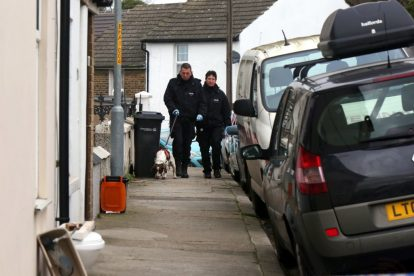 northfleet road in police lockdown after man is violently attacked in his home 11