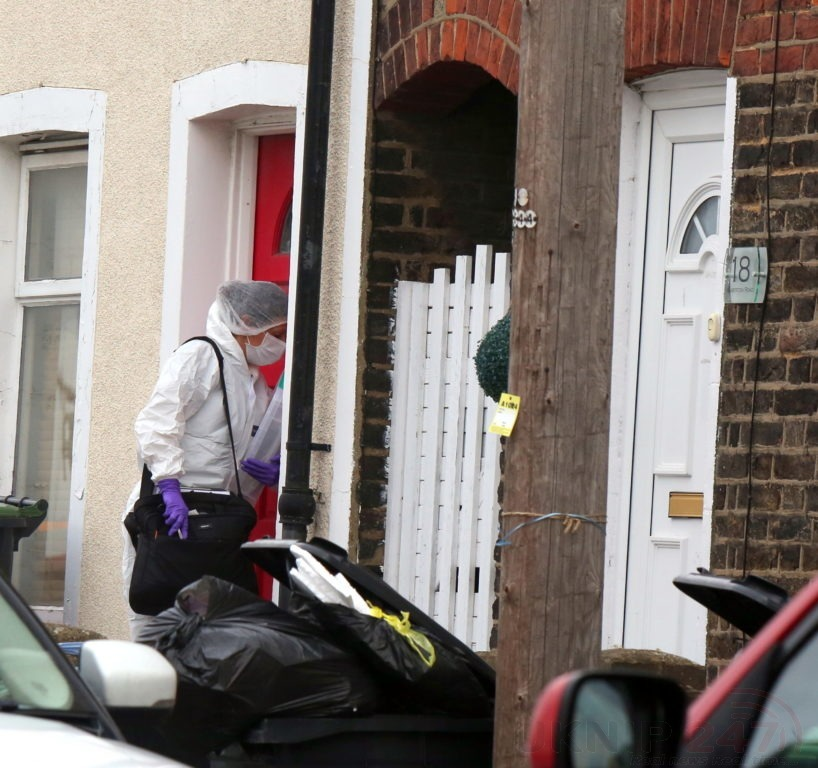 northfleet road in police lockdown after man is violently attacked in his home