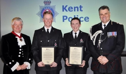 officers honoured by kents chief constable for professionalism and bravery