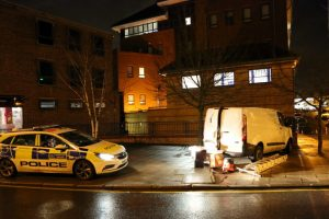 police carry out controlled comex on badly parked van outside bromley police station 3
