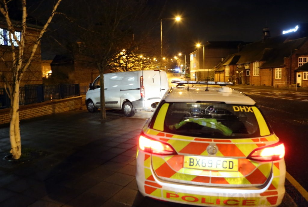 Police Carry Out Controlled Comex On Badly Parked Van Outside Bromley Police Station