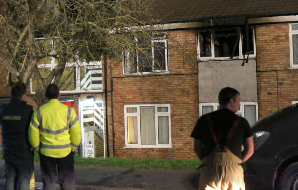 shock after late night fire rips through dartford flat seeing two taken to hospitial