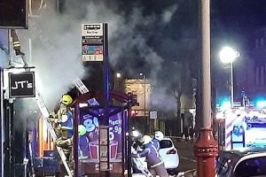 six fire crews from two fire services tackle tunbridge blaze