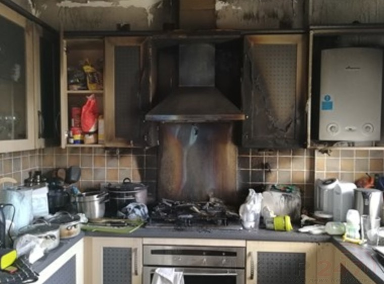 a mum of two is warning others to keep their hobs clean and clear after a fire broke out at her family home
