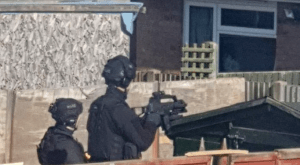 Armed Police and helicopter seen at Sheppey bungalow